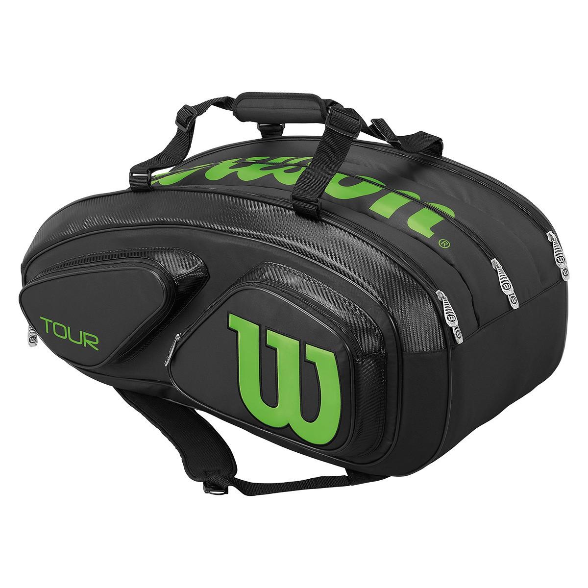 Torba tenisowa Wilson Tour V Black 15 Pack Bag