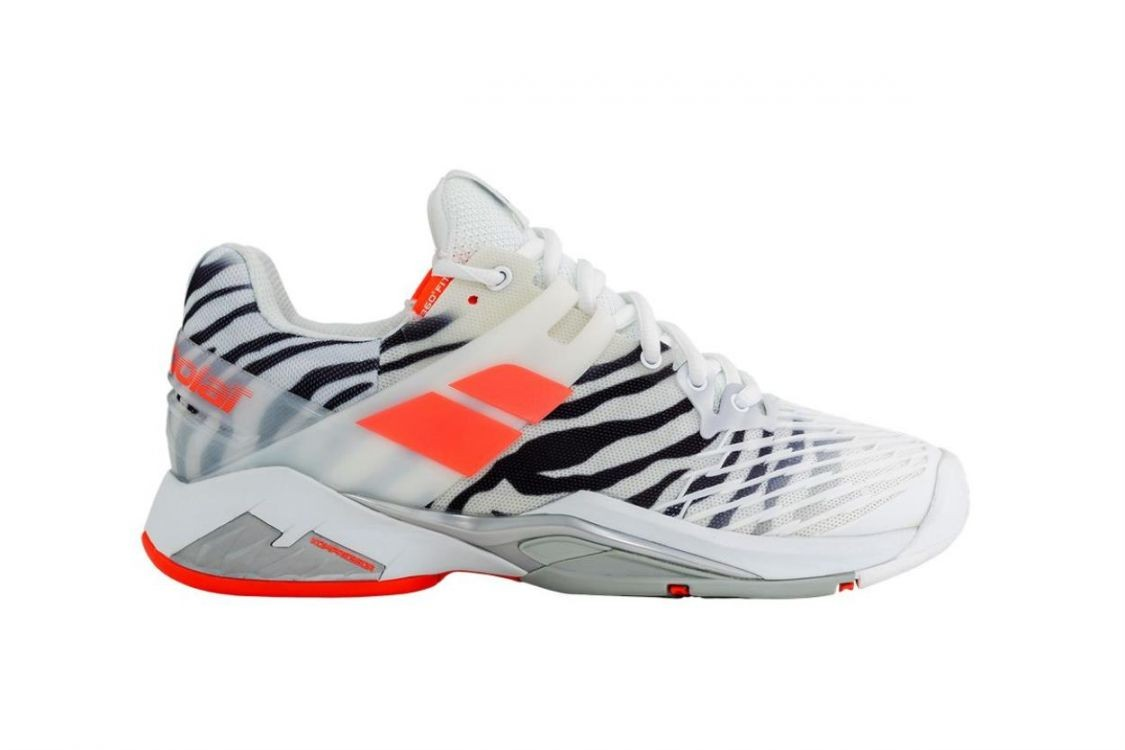 Buty tenisowe damskie Babolat Propulse Fury All Court Woman Zebra - Wyprzedaż!