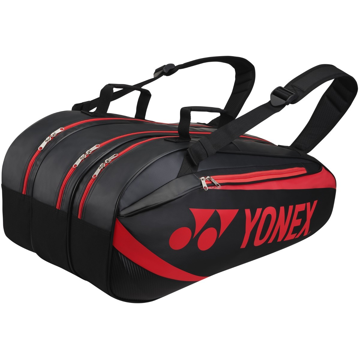 Torba tenisowa Yonex Tournament Active Bag 9 Black / Red
