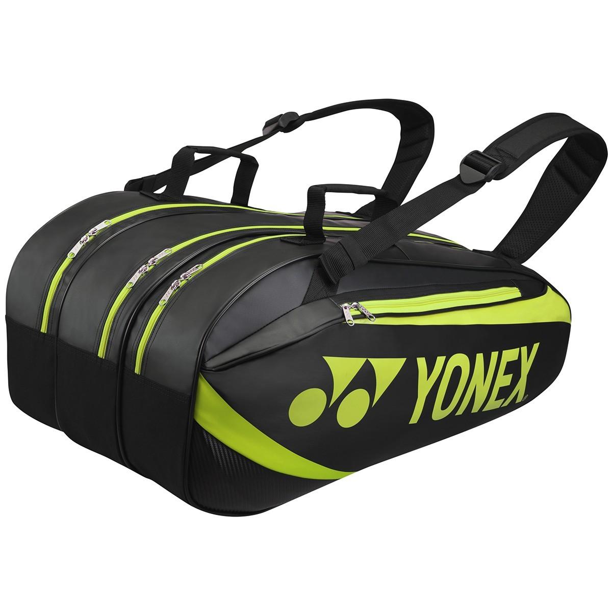 Torba tenisowa Yonex Tournament Active Bag 9 Black / Lime