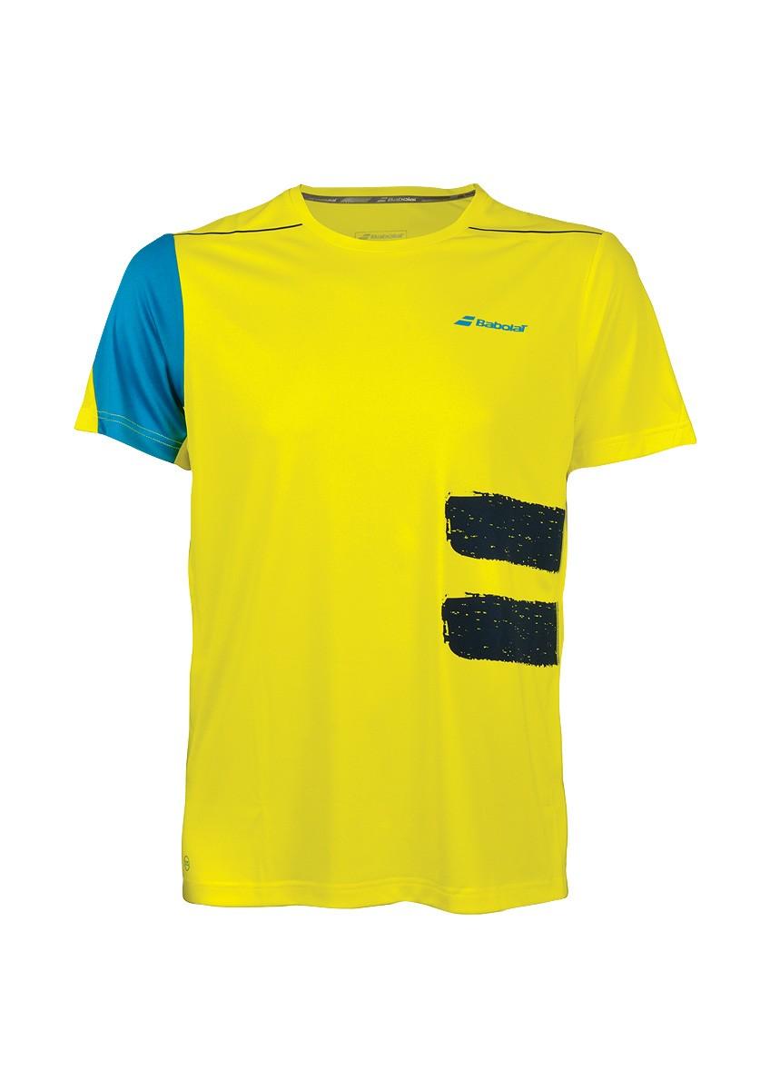 Koszulka tenisowa chłopięca Babolat Performance Crew Neck Tee Boy - Wyprzedaż!