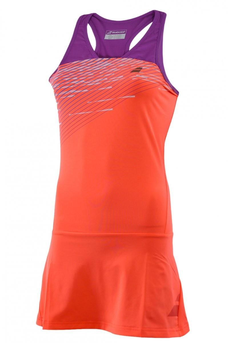 Sukienka tenisowa dziewczęca Babolat Performance Racerback Dress Fluo Strike - wyprzedaż!