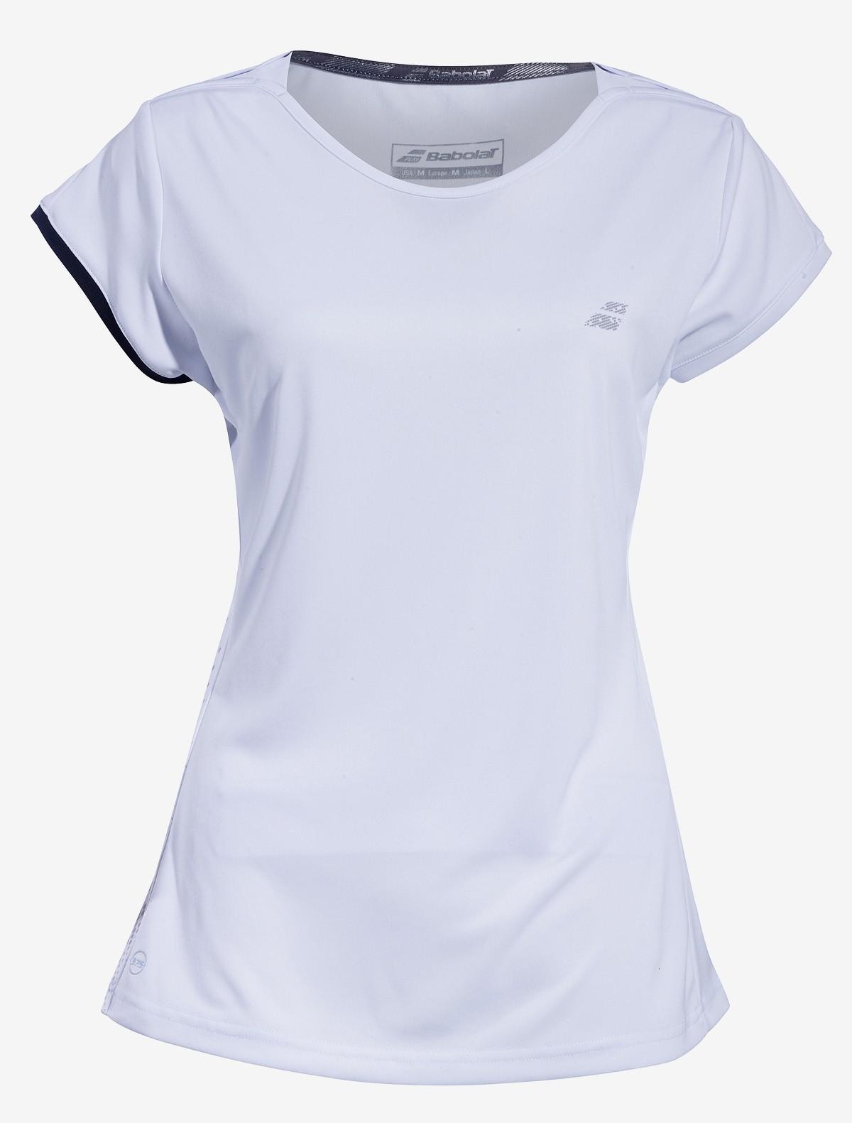 Koszulka tenisowa dziewczęca Babolat PERF Cap Sleeve White