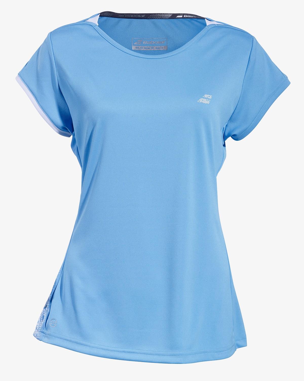 Koszulka tenisowa dziewczęca Babolat PERF Cap Sleeve Horizon Blue -50%