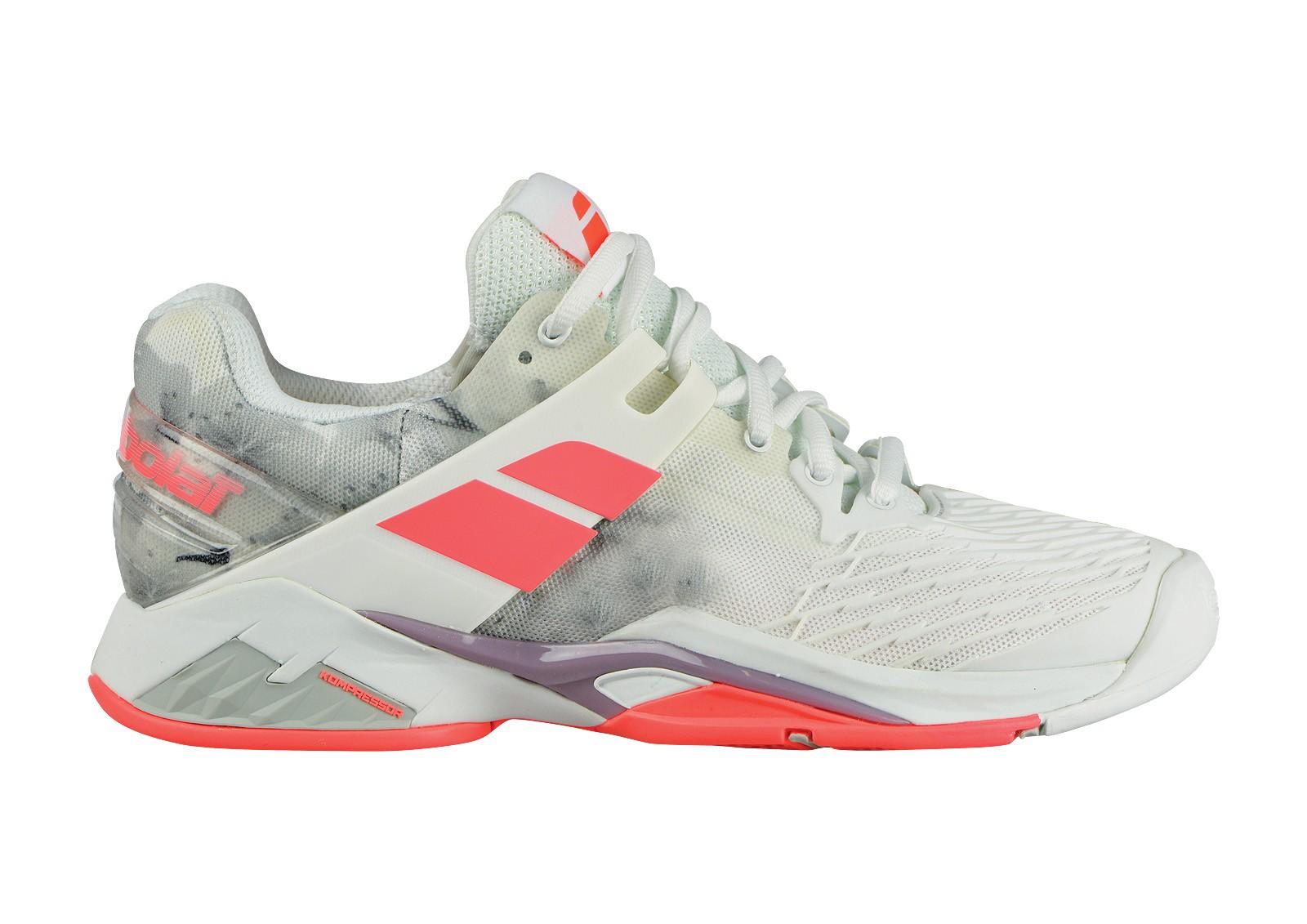 Buty tenisowe damskie Babolat Propulse Fury All Court White - Wyprzedaż -40%