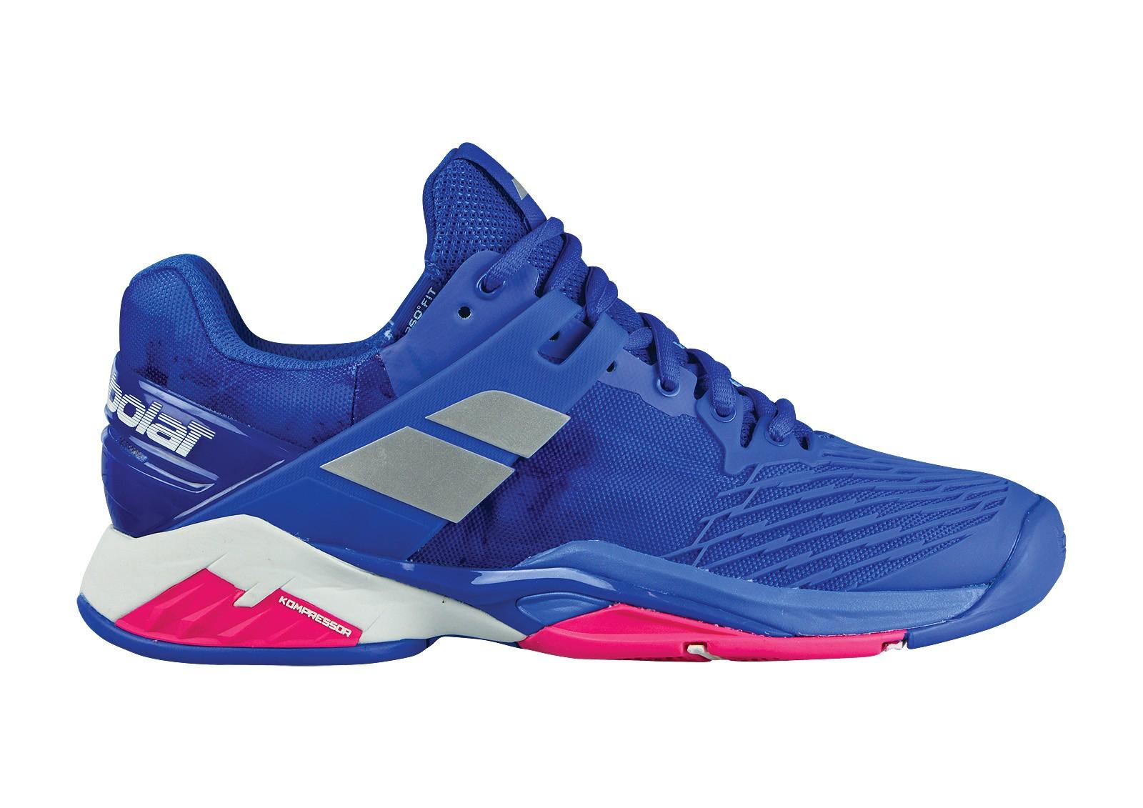 Buty tenisowe damskie Babolat Propulse Fury All Court Princess Blue - Wyprzedaż!
