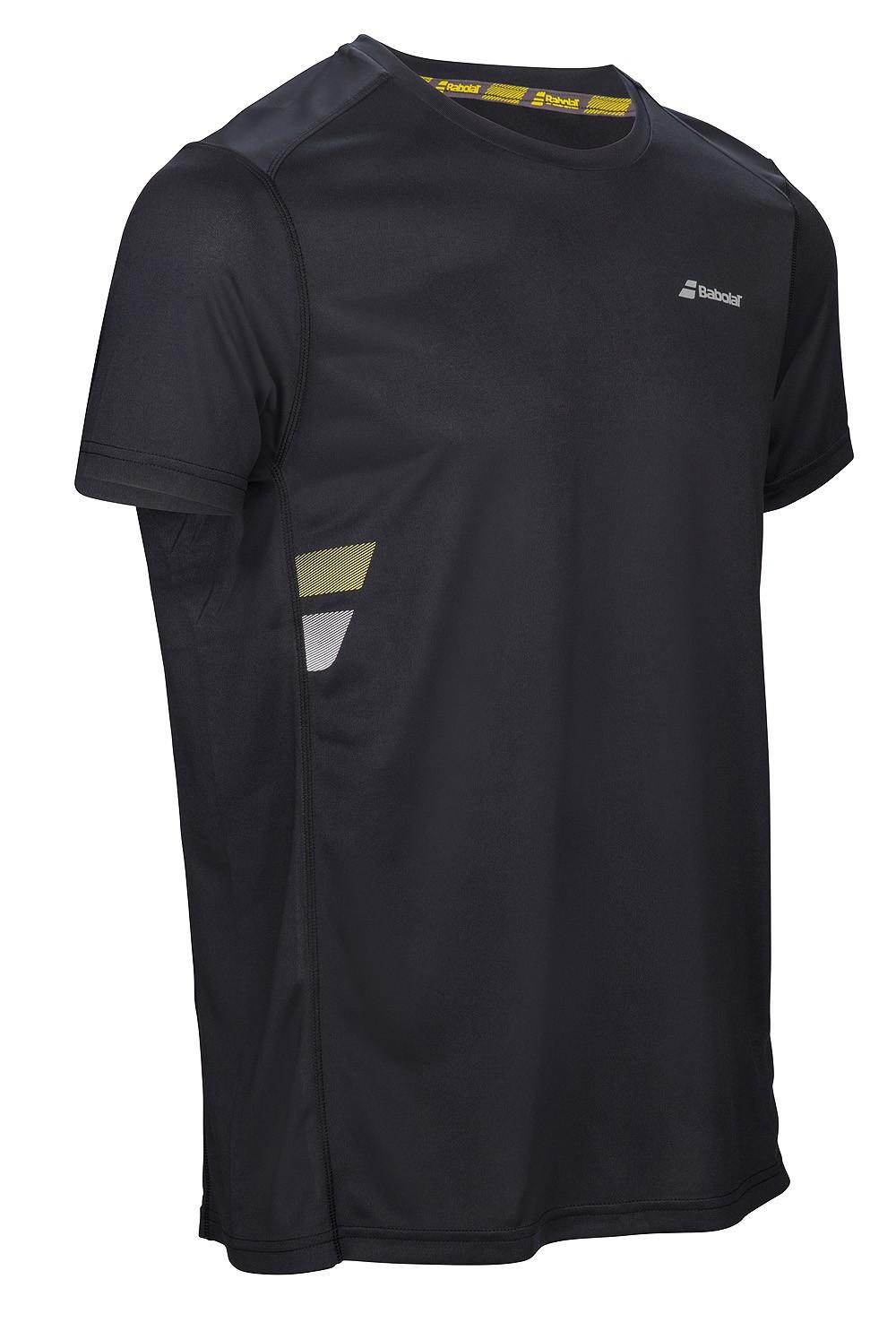 Koszulka tenisowa Babolat Flag Core Tee Black - wyprzedaż!