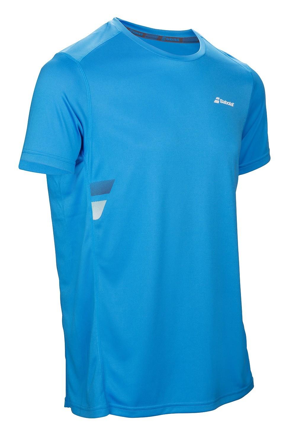 Koszulka tenisowa chłopięca Babolat Flag Core Boy Drive Blue