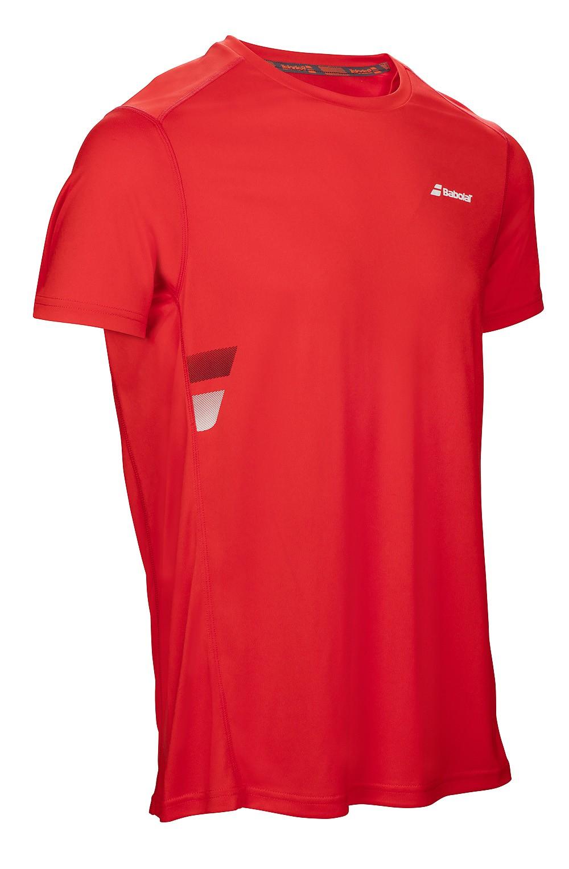 Koszulka tenisowa Babolat Flag Core Tee Fluo Red - wyprzedaż!