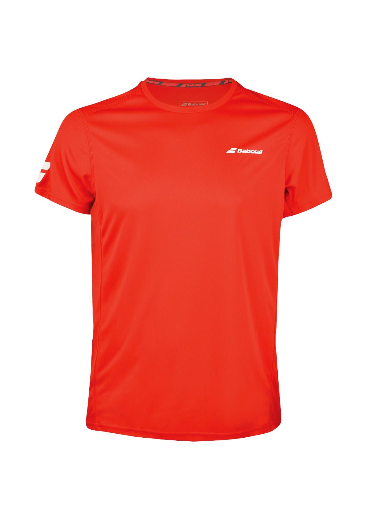Koszulka tenisowa Babolat CORE T-shirt Red - 45%
