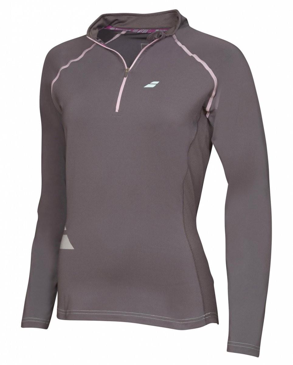 Bluza tenisowa damska Babolat 1/2 Zip Core Grey - wyprzedaż!