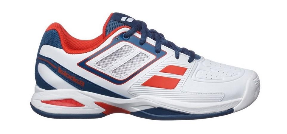 Buty tenisowe Babolat Propulse Team BPM Junior White - Wyprzedaż!