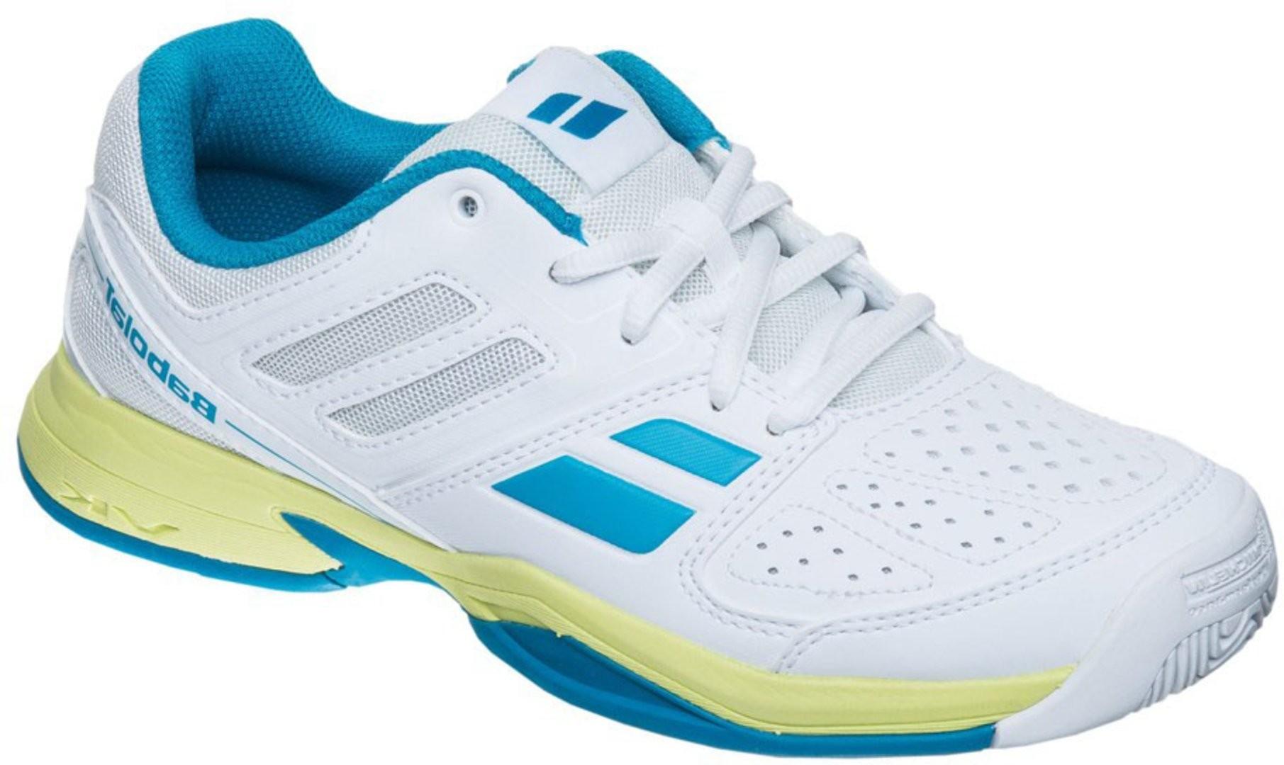 Buty tenisowe Babolat Pulsion Junior White - Wyprzedaż!