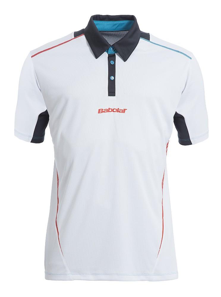 Koszulka tenisowa chłopięca Babolat Match Performance Polo White