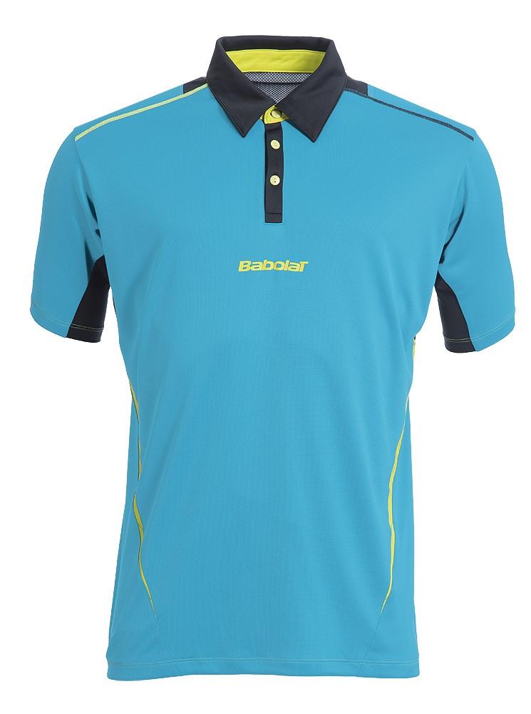 Koszulka tenisowa chłopięca Babolat Match Performance Polo Blue