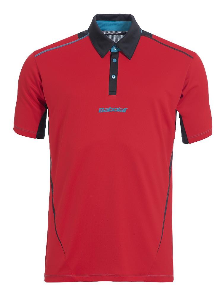 Koszulka tenisowa chłopięca Babolat Match Performance Polo Red
