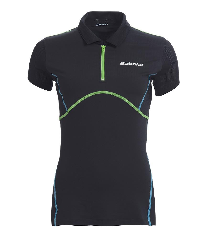 Koszulka tenisowa damska Babolat Match Performance Polo Black