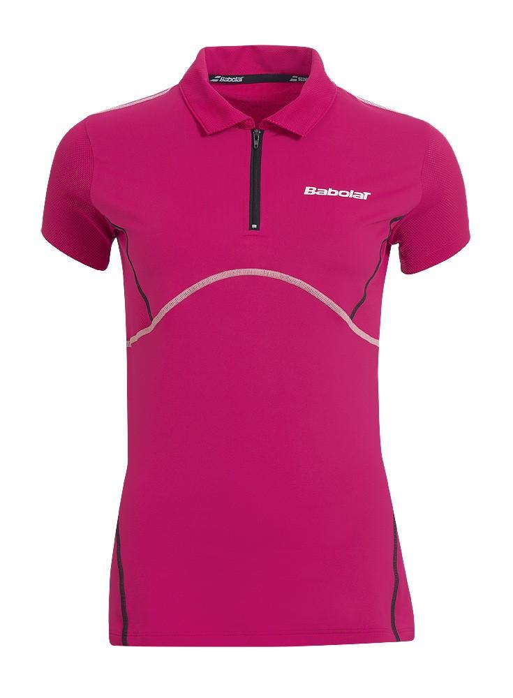 Koszulka tenisowa dziewczęca Babolat Match Performance Polo Cherry