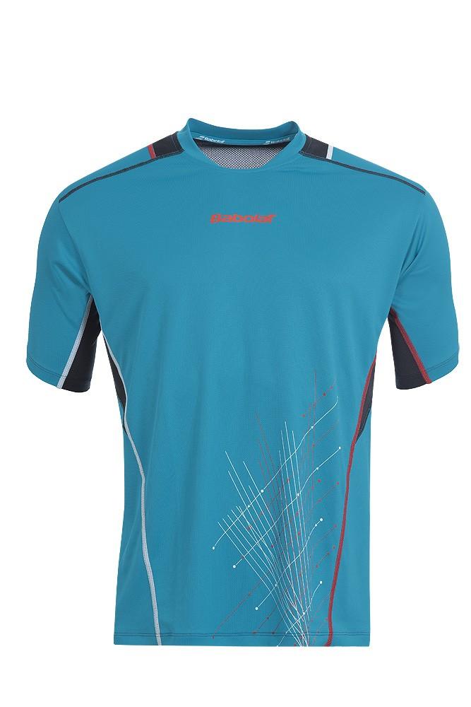 Koszulka tenisowa chłopięca Babolat Match Performance T-shirt Blue