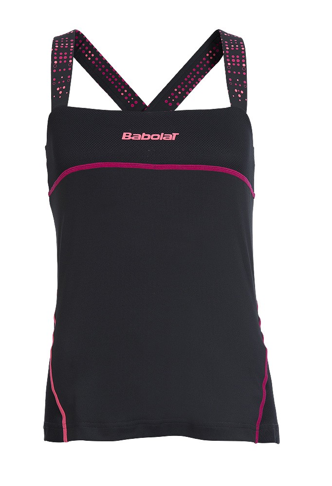 Koszulka tenisowa damska Babolat Performance Tank Black - wyprzedaż!