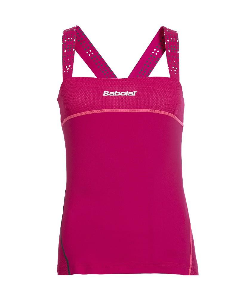 Koszulka tenisowa damska Babolat Match Performance Tank Cherry