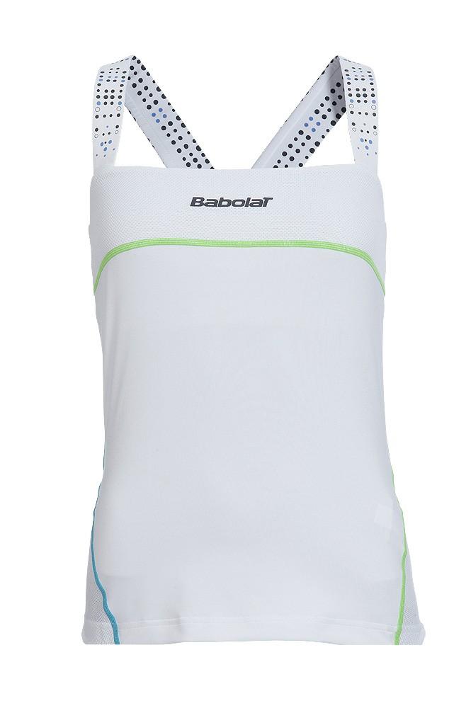 Koszulka tenisowa damska Babolat Performance Tank White - wyprzedaż!