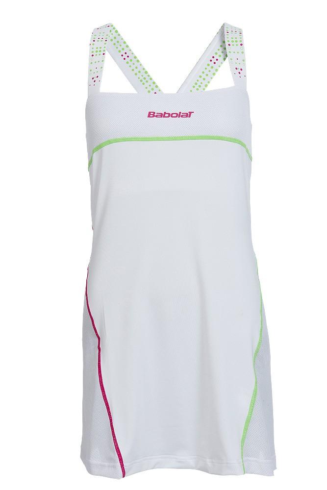 Sukienka tenisowa dziewczęca Babolat Match Performance Girl White