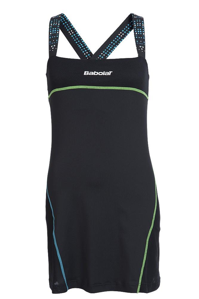 Sukienka tenisowa Babolat Match Performance Dress Black - Wyprzedaż!