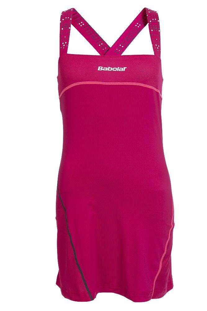Sukienka tenisowa Babolat Match Performance Dress Cherry - Wyprzedaż!