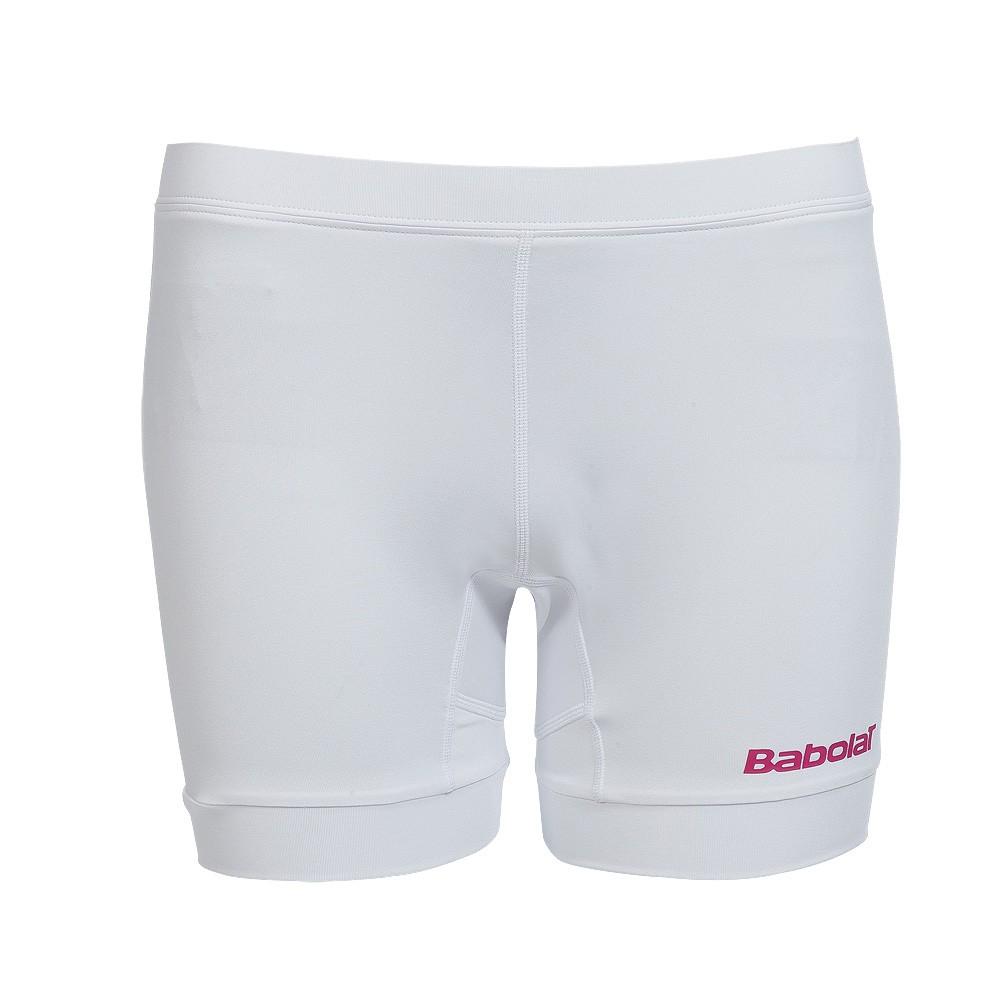 Szorty pod sukienkę dziewczęce Babolat Match Performance White