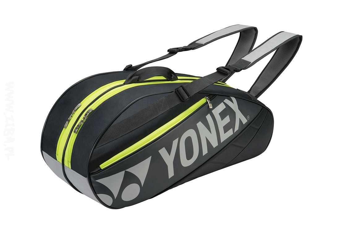Torba tenisowa Yonex Tournament Basic Bag 6 Grey/Lime