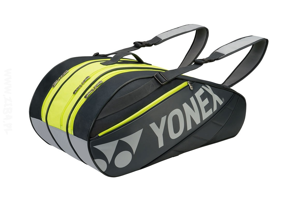 Torba tenisowa Yonex Tournament Basic Bag 9 Grey/Lime