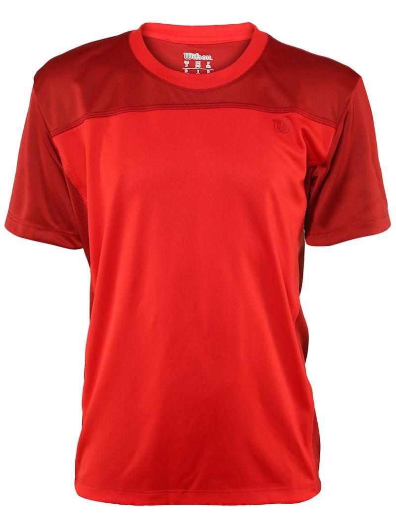 Koszulka tenisowa chłopięca Wilson Rush Crew Red - wyprzedaż!
