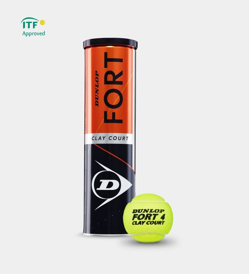 Piłki tenisowe Dunlop Fort Clay Court karton 18x4szt