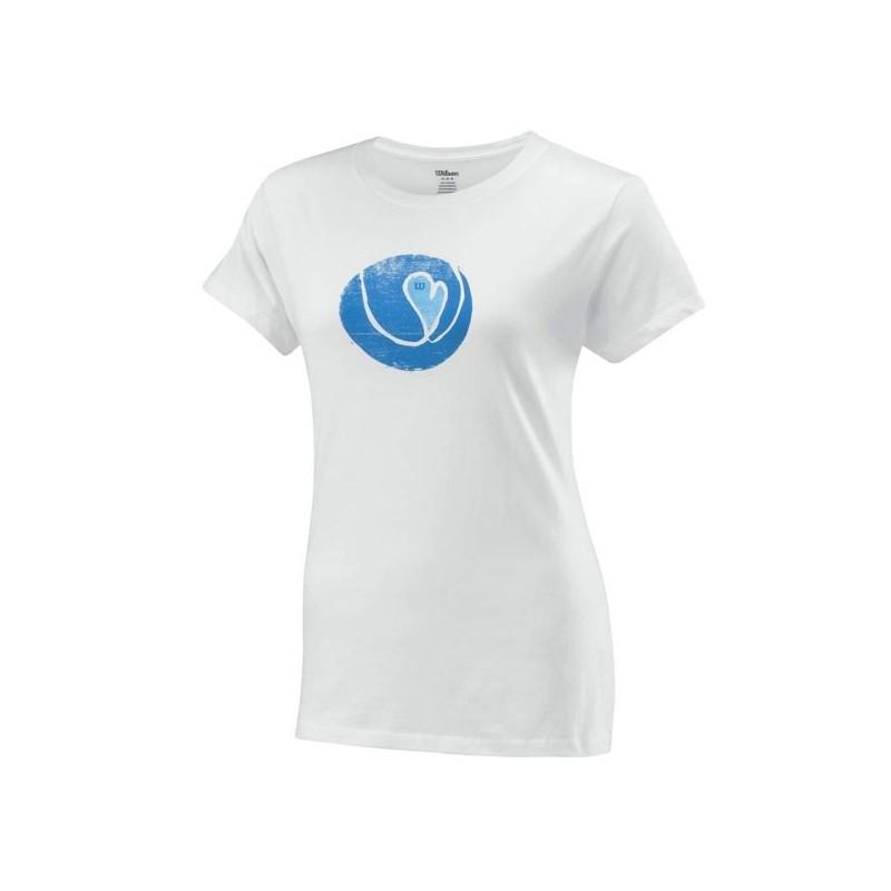 Koszulka tenisowa damska Wilson LS Heart Ball - wyprzedaż!