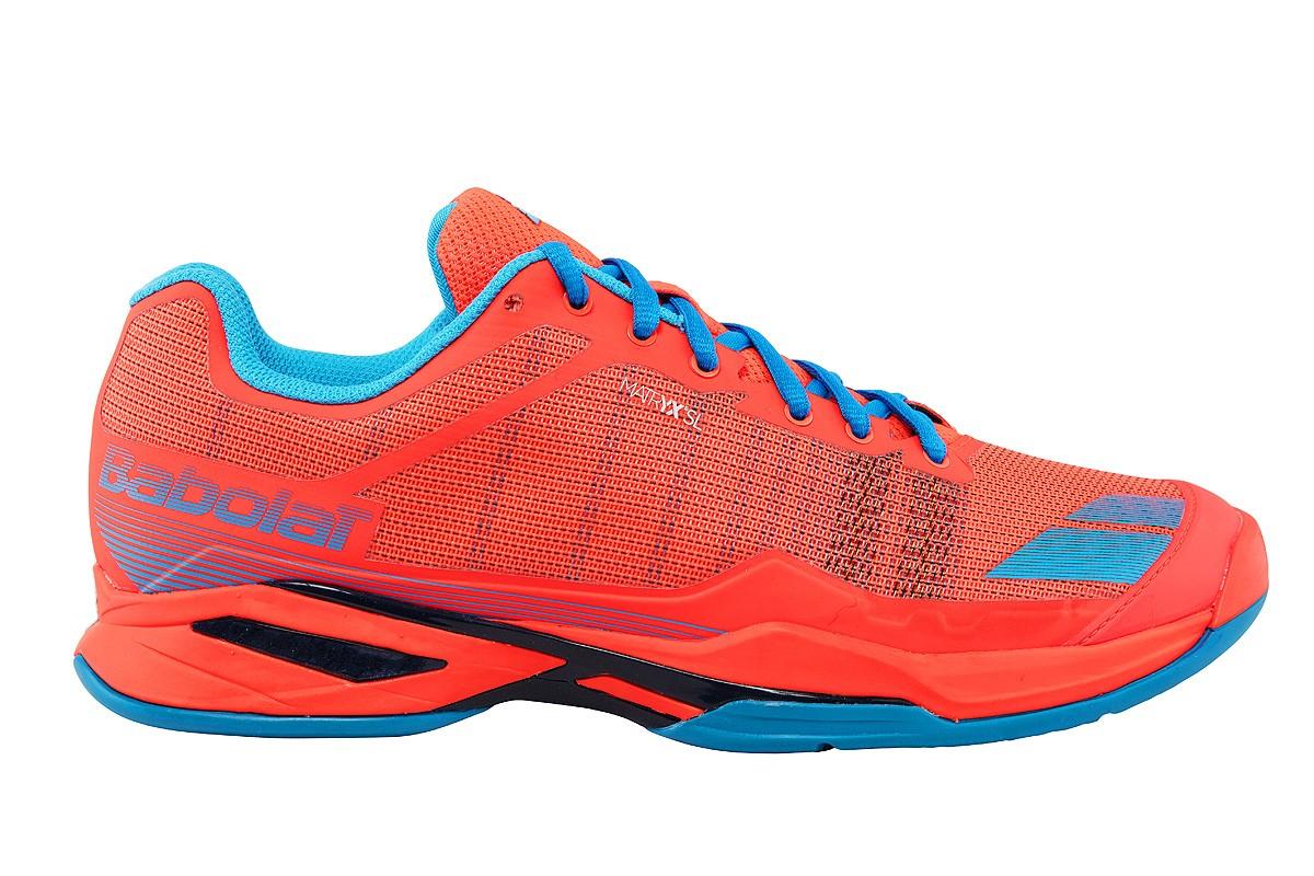Buty tenisowe Babolat Jet Team Clay fluo red - Wyprzedaż!