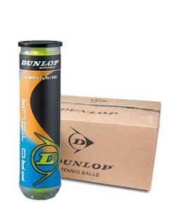 Piłki tenisowe Dunlop Pro Tour karton 18 puszek x4