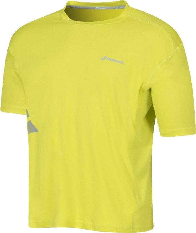 Koszulka tenisowa chłopięca Babolat Flag Core Boy Tonic Lime - wyprzedaż!