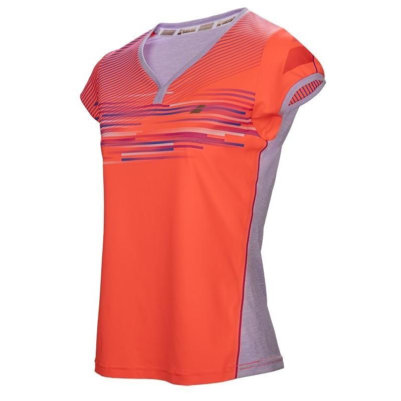Koszulka tenisowa dziewczęca Babolat Perf Cap Sleeve Top  - wyprzedaż!
