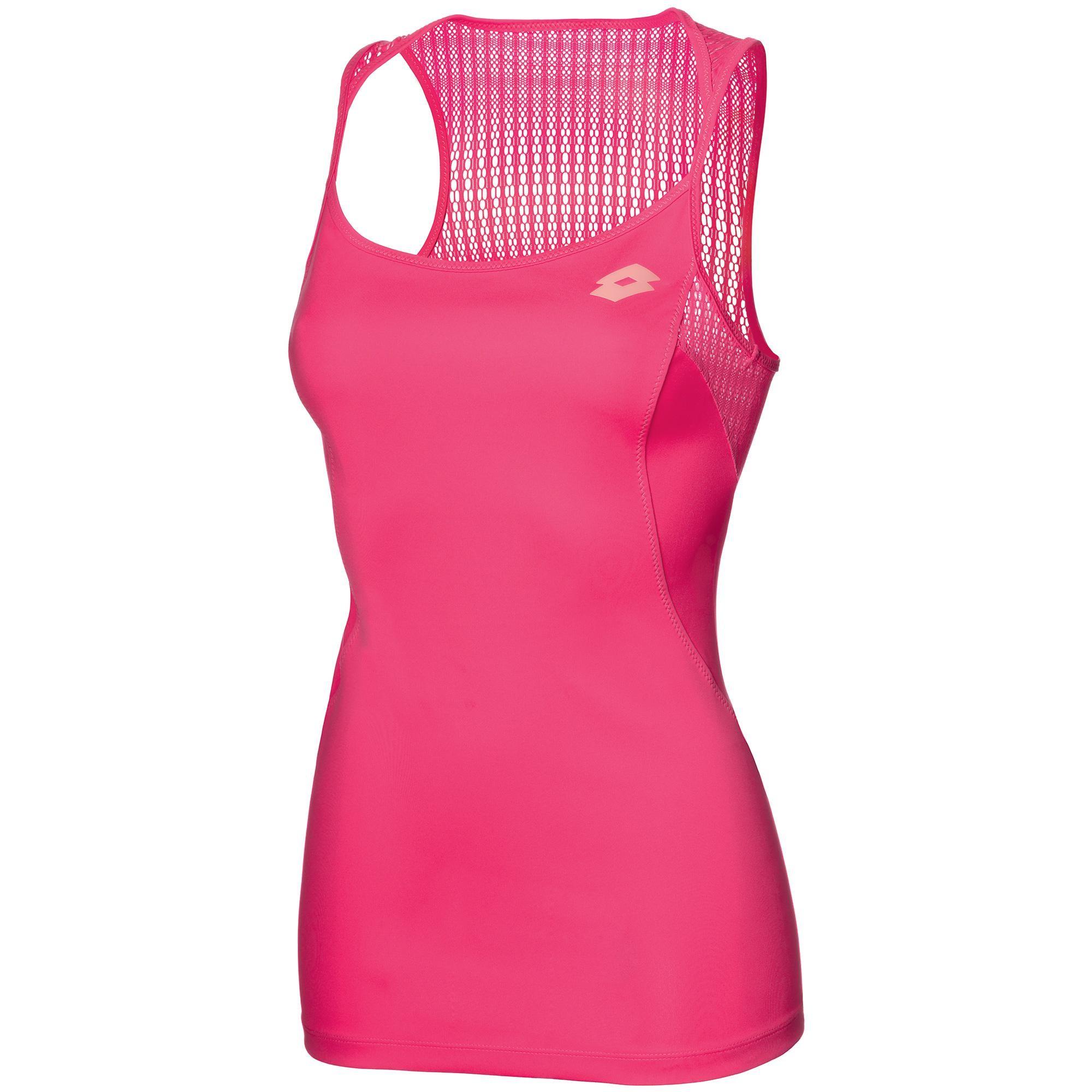 Koszulka tenisowa damska Lotto Nixia II Tank - pink fluo pop - wyprzedaż!