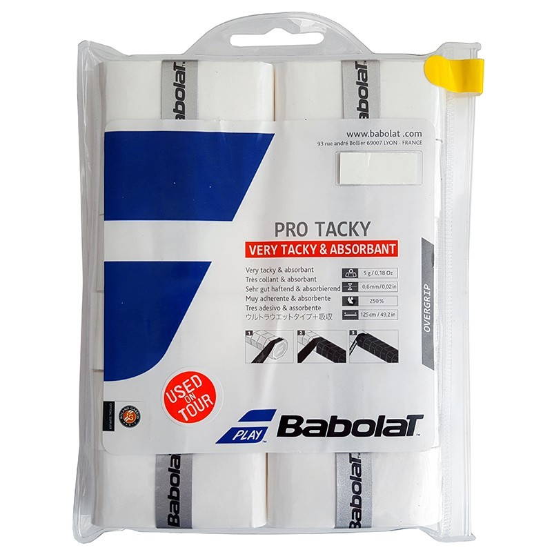 Owijki tenisowe Babolat Pro Tacky x12
