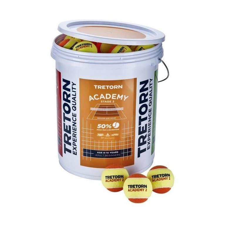 Piłki tenisowe Tretorn Academy Orange wiaderko 72 szt