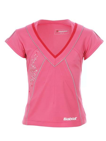 Koszulka tenisowa dziewczęca Babolat Polo Performance Girl Pink - wyprzedaż -50%