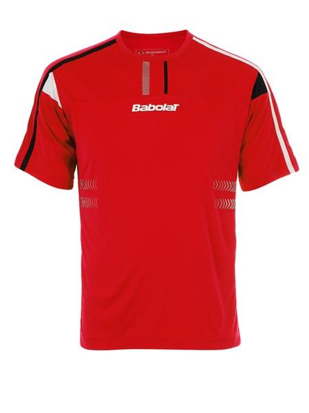 Koszulka tenisowa chłopięca Babolat T-Shirt Performance Boy Red - Wyprzedaż - 50%