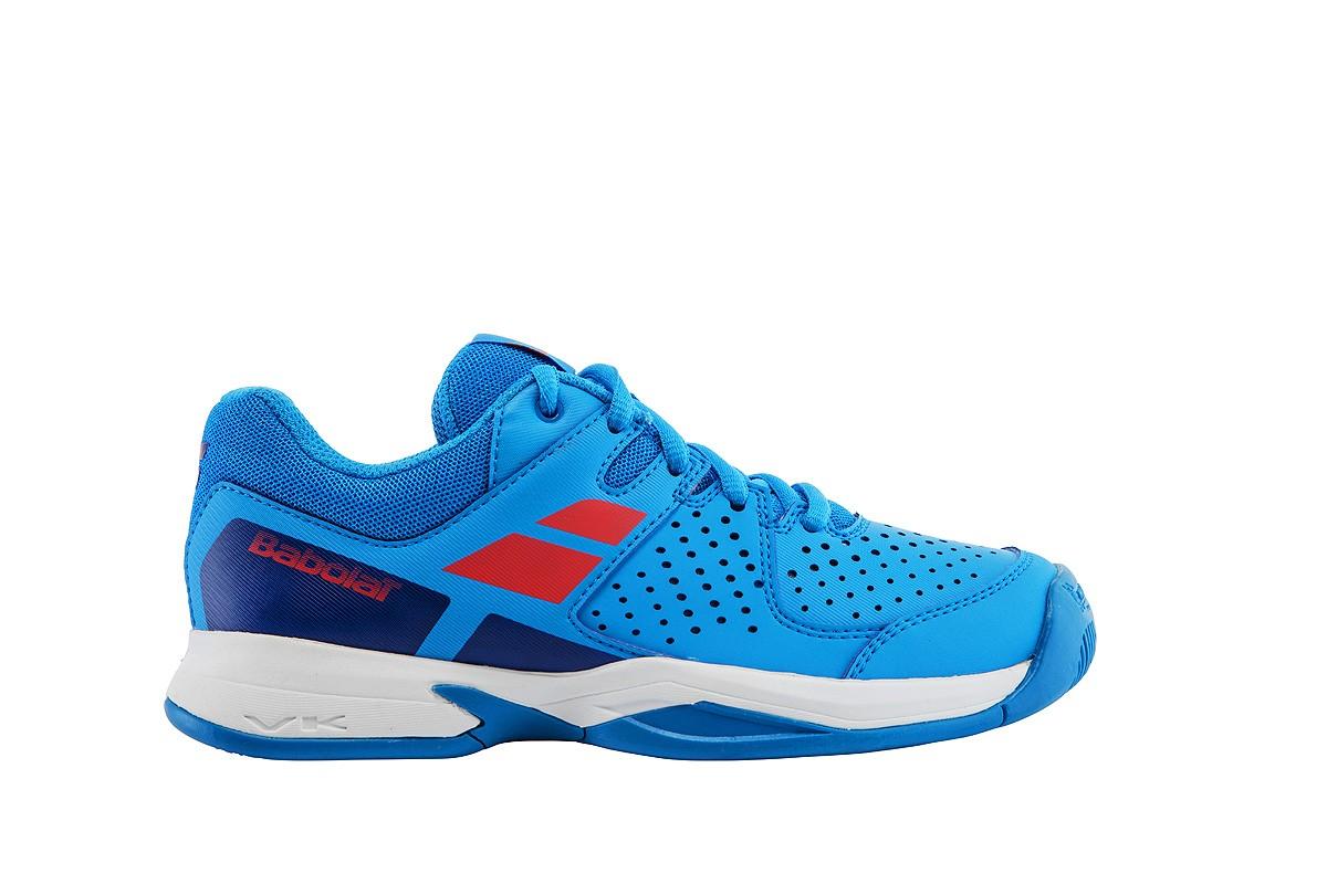 Buty tenisowe Babolat Pulsion Junior Blue Drive - Wyprzedaż - 50%