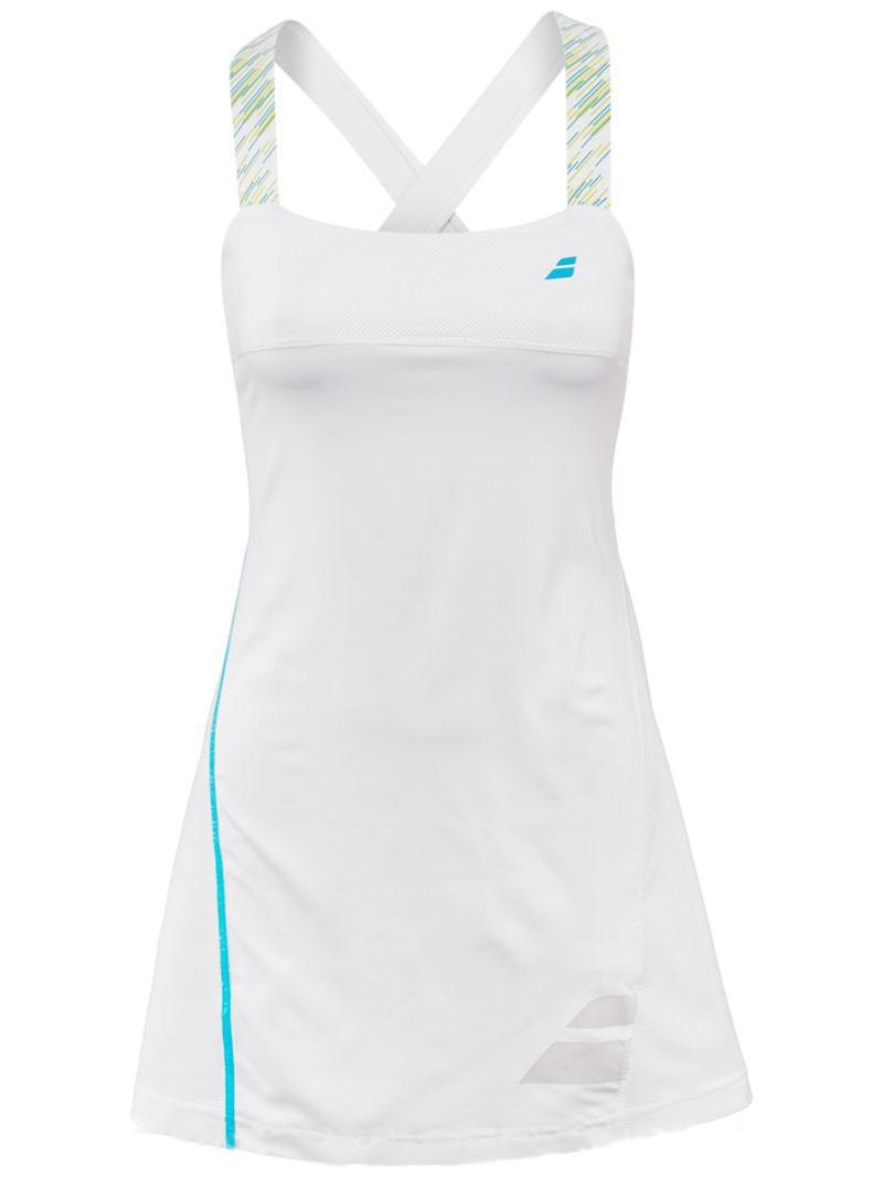 Sukienka tenisowa Babolat Performance Strap Dress White - Wyprzedaż!