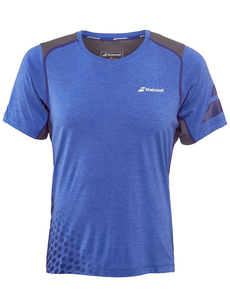 Koszulka tenisowa Babolat V-Neck Performance Blue