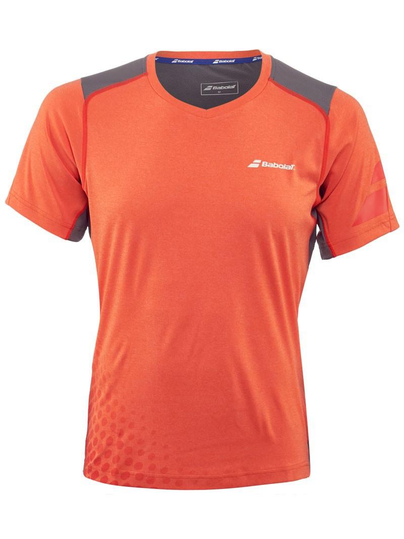 Koszulka tenisowa Babolat V-Neck Performance Flame