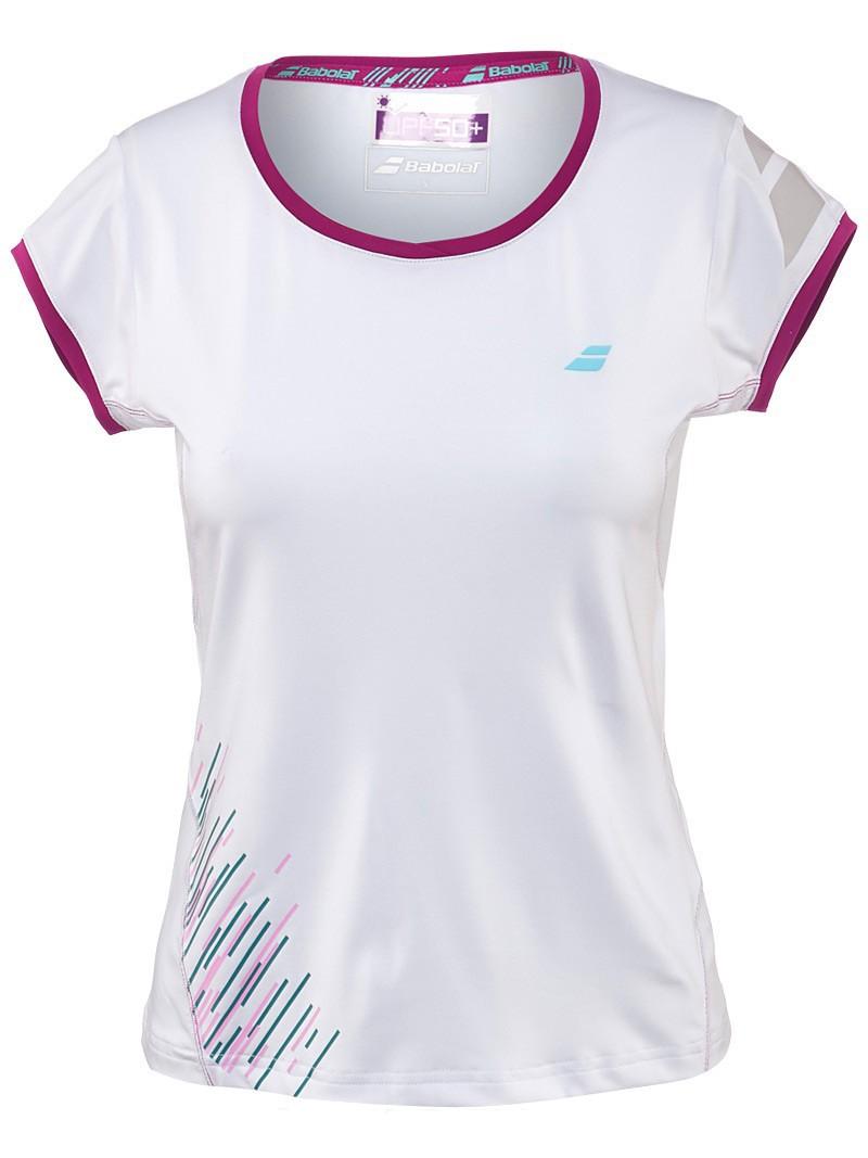 Koszulka tenisowa damska Babolat  Performance Cap Sleeves - Wyprzedaż!