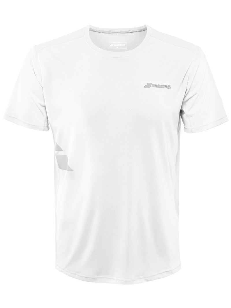Koszulka tenisowa Babolat T-Shirt Flag Core White - wyprzedaż!